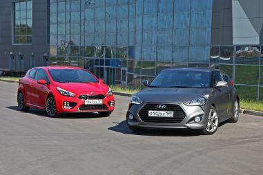 Сравнительный тест Hyundai Veloster и KIA pro_cee'd GT. Две стороны медали
