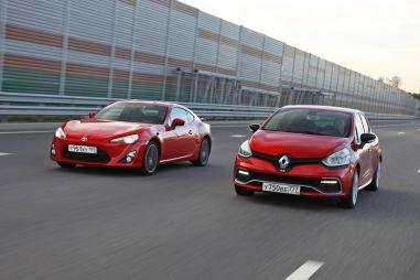 Дуэль-тест Renault Clio RS и Toyota GT86. Всем по двести!