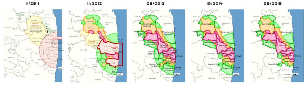 Изменения в зоне отчуждения с 2011 по 2015 год