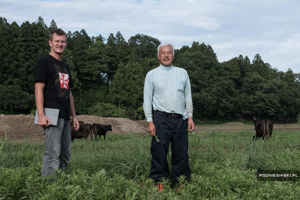 Автор отчета и Наото Мацумура
