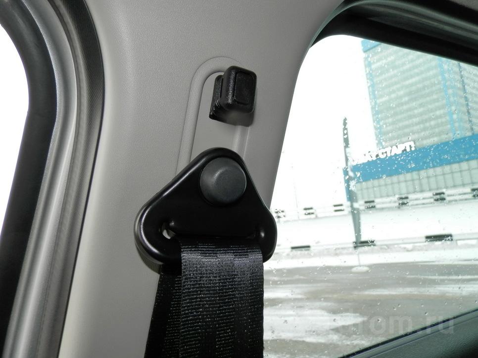 Ремень безопасности регулируется по высоте