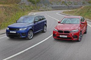 Дуэль-тест BMW X6M против Range Rover Sport SVR. Совокупность лжи