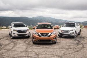 Сравнительный тест: Ford Edge, Nissan Murano и Hyundai Santa Fe