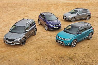 Сравнительный тест Suzuki Vitara, Skoda Yeti, Nissan Qashqai и Mitsubishi ASX. Осенний марафон