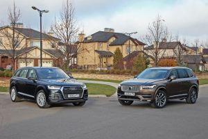 Дуэль-тест Audi Q7 и Volvo XC90. Уровень статуса
