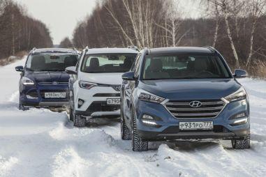 Сравнительный тест Hyundai Tucson, Toyota RAV4 и Ford Kuga. Камень, ножницы, бумага