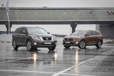 Дуэль-тест Nissan Pathfinder и Kia Sorento Prime. Посудохозяйственные